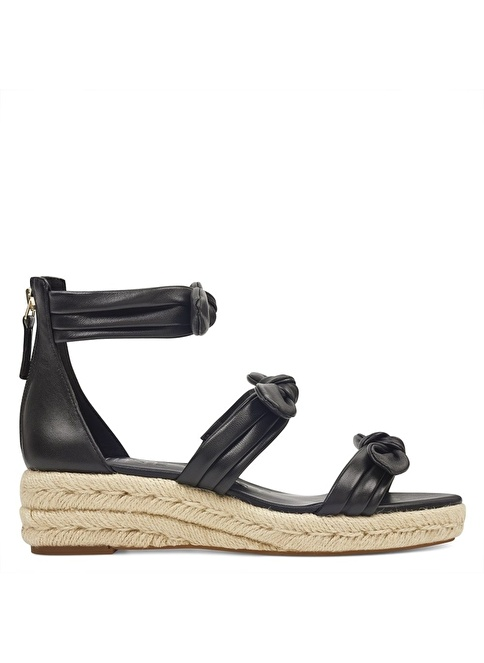 Nine West %100 Deri Sandalet Siyah